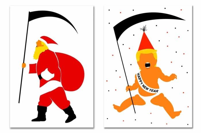 Edel Rodriguez Trump holiday cards