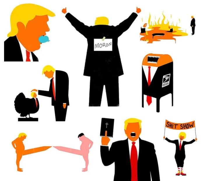 trump stupidity art