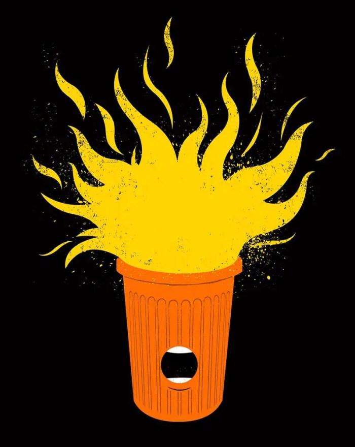 trump dumpster fire