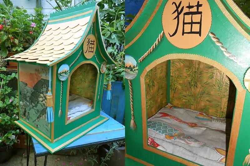 mimi de biarritz cardboard pagoda pet bed2