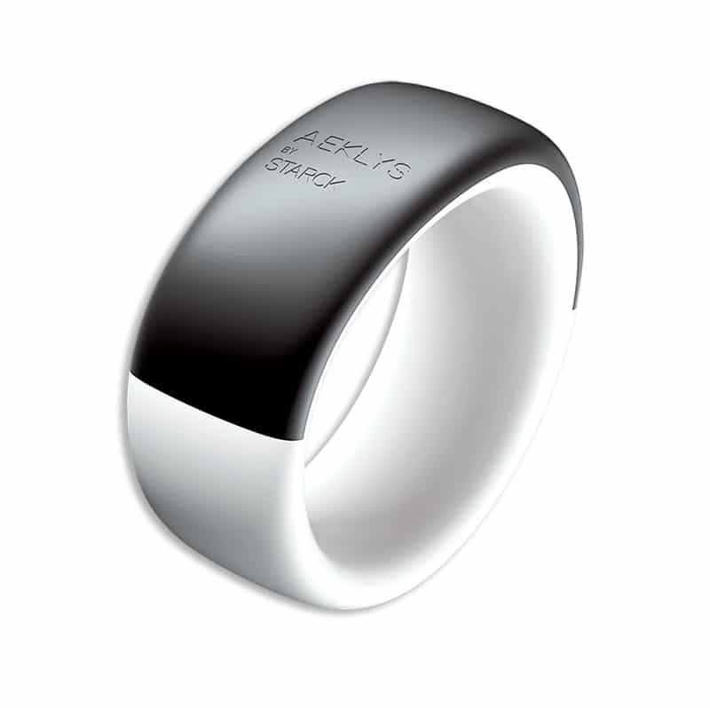Aeklys by starck smart ring on white