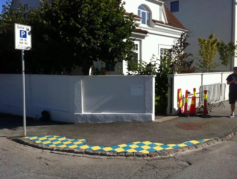 ceramic tile street art