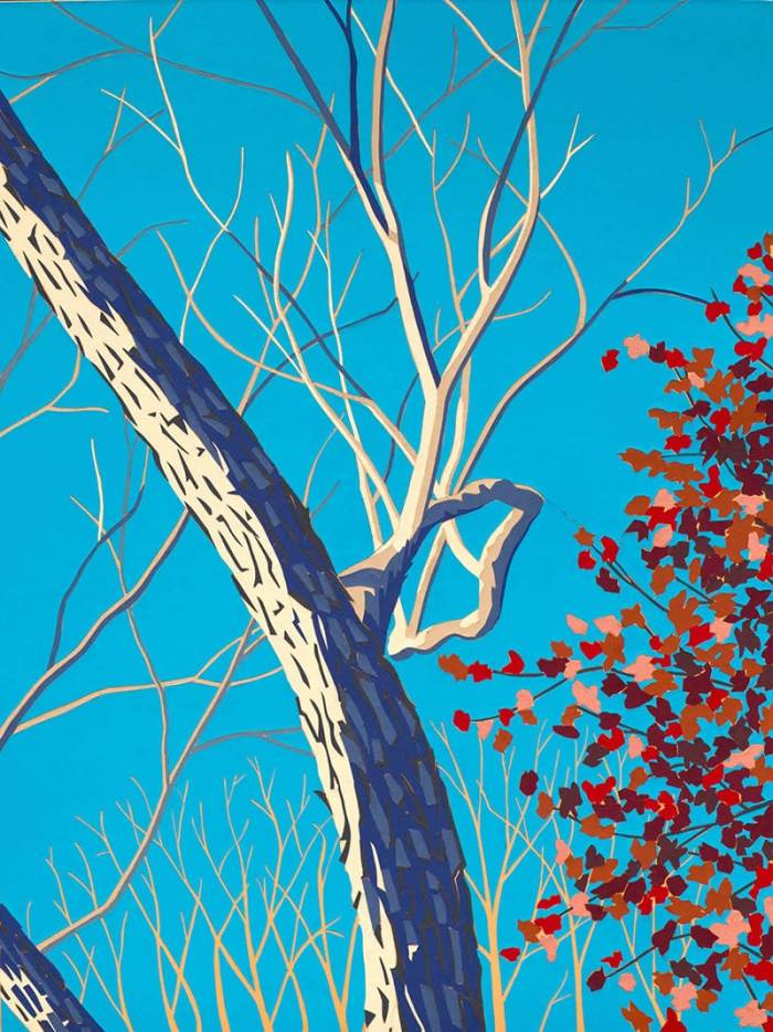 paper art maple tree