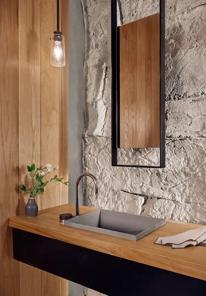 bathroom in texas wine cave