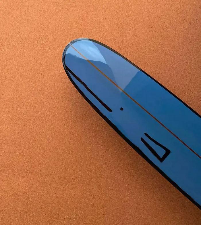 blue wahle surfboard by jean jullien for fernand
