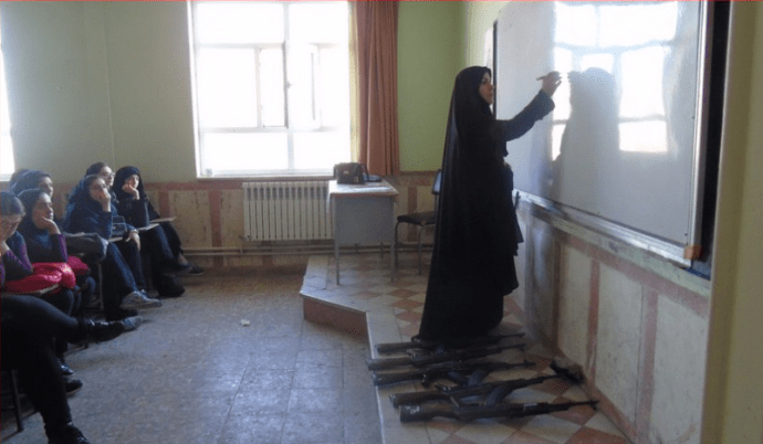 ifmat - military training to Iranian girls in middle school 2