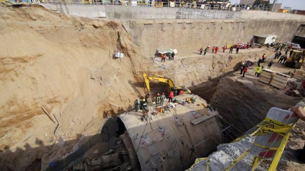ifmat - Metro Wall Collapses in Qom; Workers Buried Under Debr2