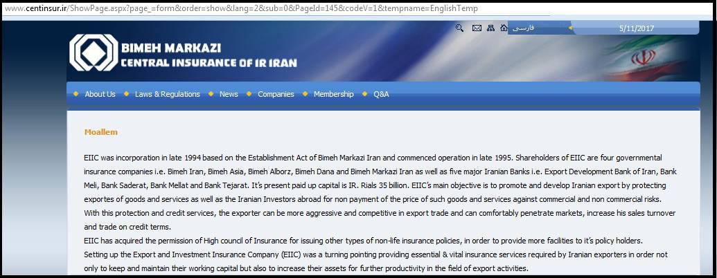 ifmat - Saderat owns shares in Moallem