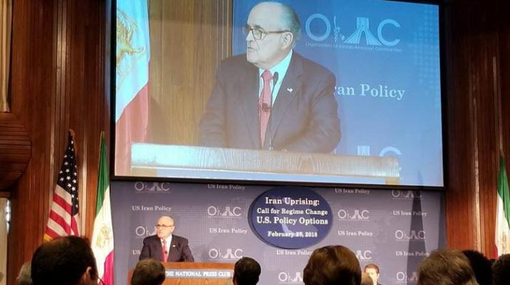 ifmat - Giuliani supports the Iranian people and new sanctions on Iran