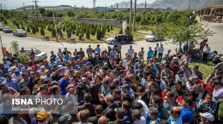 ifmat - Iranians who strike for unpaid wages charged with disturbing public order