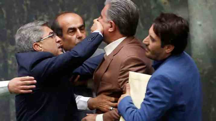 ifmat - Brawl breaks out in Iranian parliament