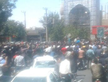 ifmat - Strike and protests in in the city of Isfahan in Iran
