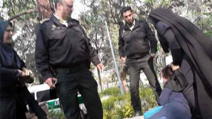ifmat - Iranian regime morality police physically attacks women