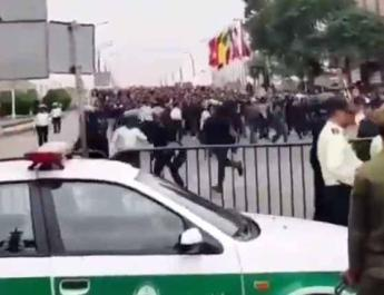 ifmat - Riot police attack protesting workers of national steel group