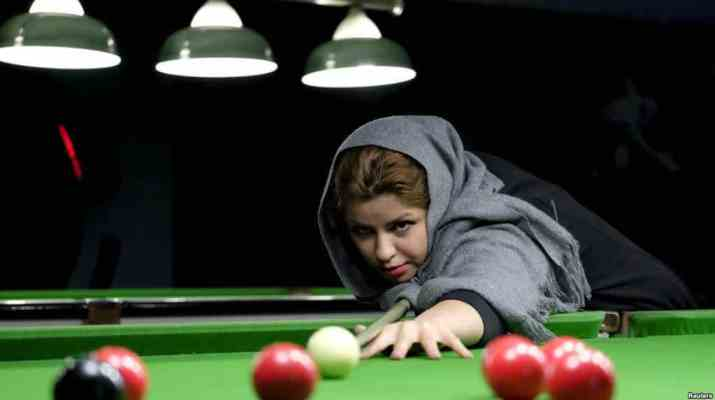 ifmat - Iranian female biliard player charged for un-islamic conduct
