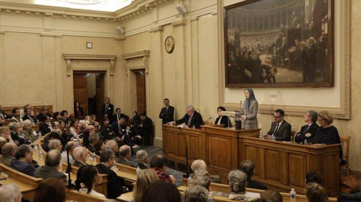 ifmat - Firm policy against Iran regime terrorism, at French parliament