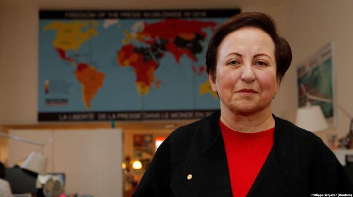 ifmat - Iranian nobel peace prize winner urges world action to weaken Iran rulers