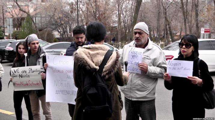 ifmat - Armenia activists call for prominent Iranian rights lawyer release