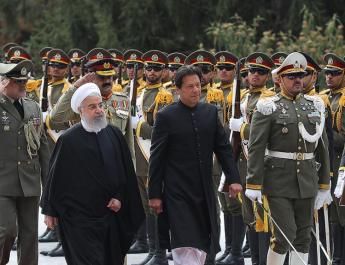 ifmat - Pakistan imran Khan welcomed in Iran by Rouhani