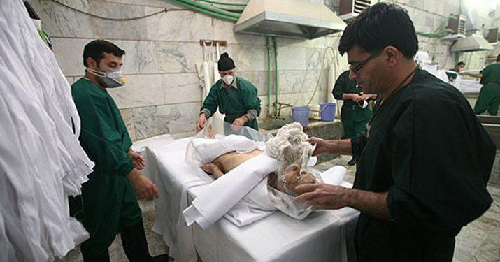 ifmat - Iran regime condemns man to forced labor in mortuary