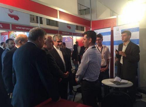 ifmat - Representatives of General Mechanic and Melli Sakhteman in the Damascus international fair