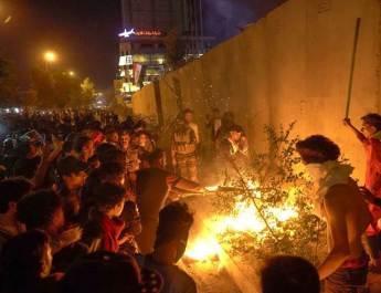 ifmat - Iranian embassy set ablaze in Karbala