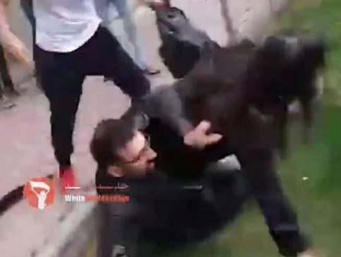 ifmat - Teenage girl is thrown to the ground by Iranian cops for not wearing a hijab