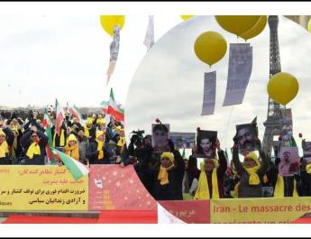 ifmat - Demonstration in Paris in support of the uprising in Iran