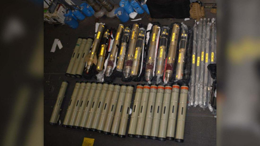 ifmat - US officials release photos of Iranian missile parts captured1