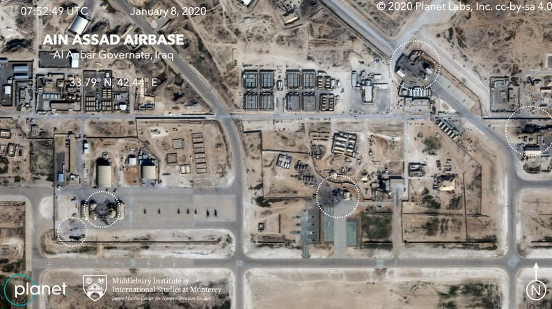 ifmat - Satellite photos reveal extent of damage from Iranian strike on Air Base in Iraq1