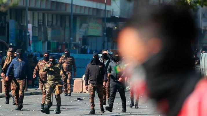 ifmat - Iranian militias fire at Iraqi protesters