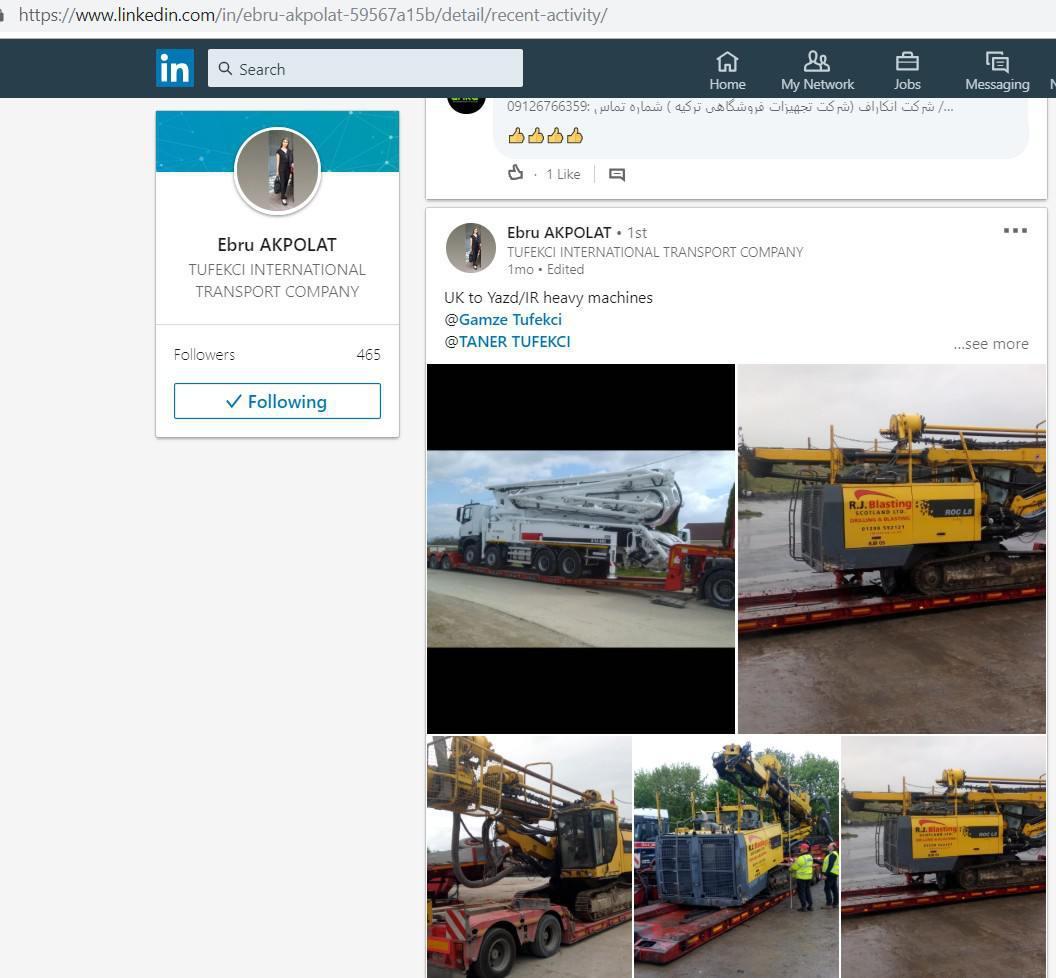 ifmat - Tufekci Trans ve LojistikIran Heavy Machinery from the UK