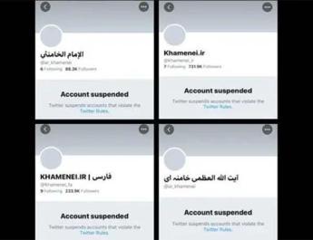ifmat-Twitter suspends accounts of Iran Supreme Leader Khamenei
