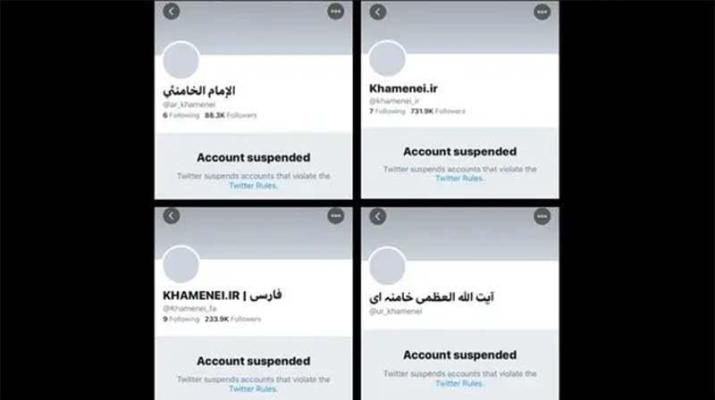ifmat-Twitter suspends accounts of Iran Supreme Leader Khamenei