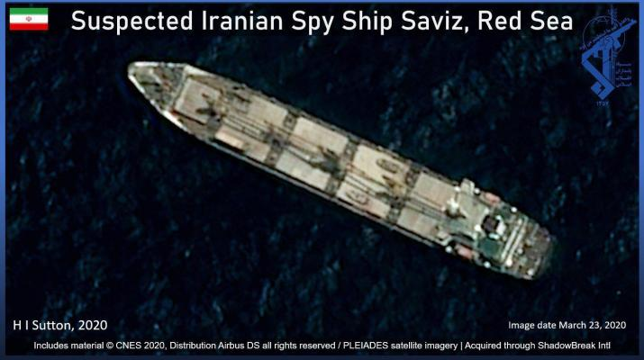 ifmat - Iranian spy ship commands strategic position on vital oil route