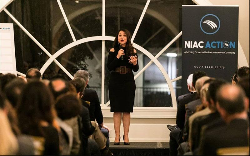 ifmat - Lily Sarafan delivered her speech at NIAC meeting