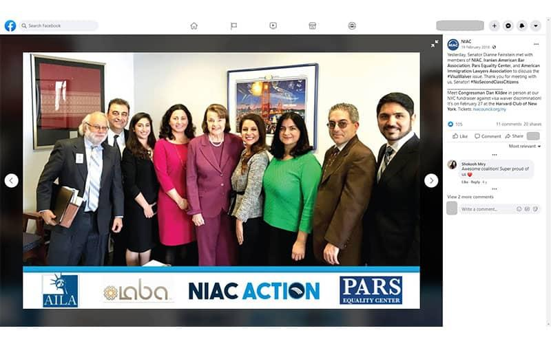 ifmat - Lily Sarafan taking part in joint Congressional lobbying activity involving NIAC