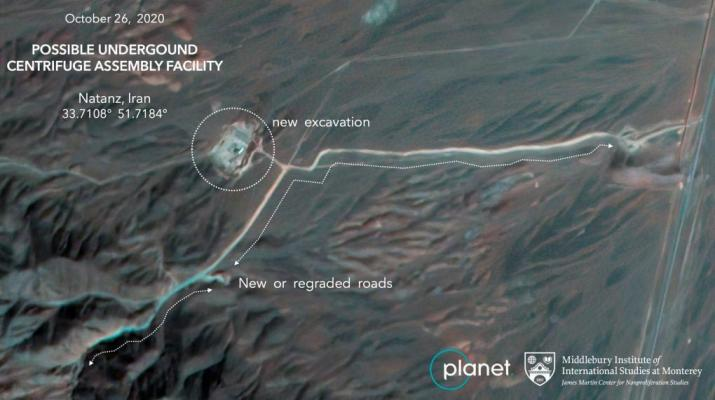 ifmat - Satellite imagery captures construction underway at Iranian nuclear site