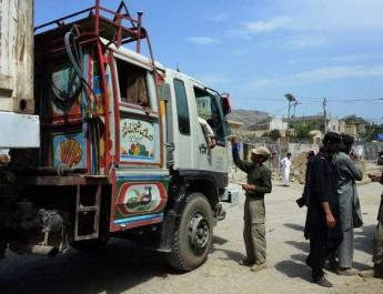 ifmat - Afghan guards seize Iranian explosives hidden in truck