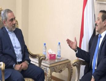 ifmat - Houthi officials meet Iran new envoy in Sanaa