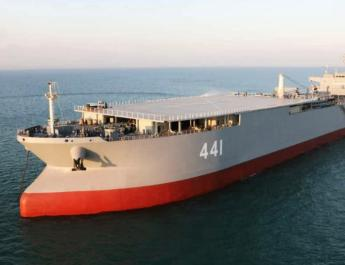 ifmat - Iran commissions its massive oil tanker turned sea base into service