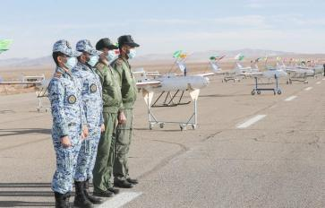 ifmat - Iran military holds first-ever drone drill 8