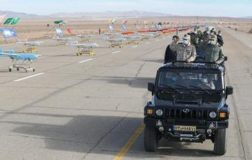 ifmat - Iran military holds first-ever drone drill 9