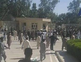 ifmat - Pakistan Baluchis protest Iranian treatment of ethnic brethren after border shootings