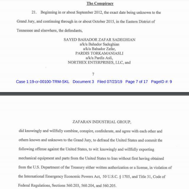 ifmat - A grand jury indictment issued two companies actuators and industrial valves to Iran