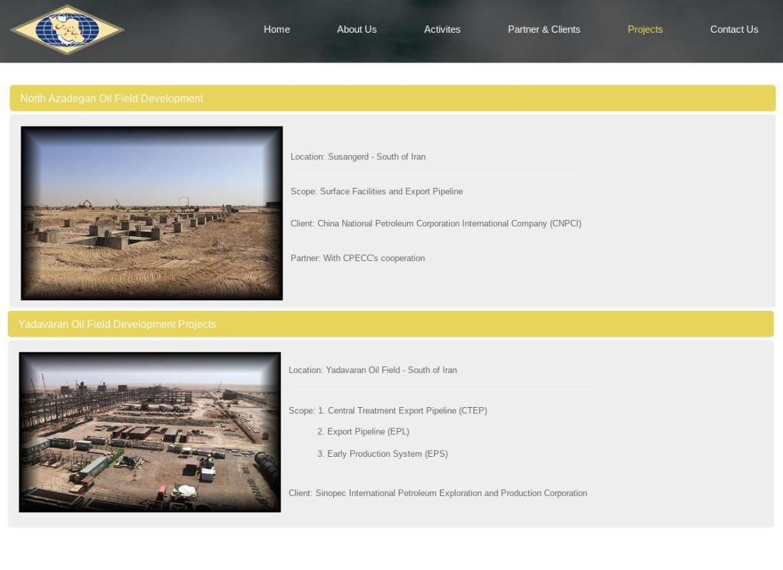 ifmat - Jahan Pars Ongoing Projects