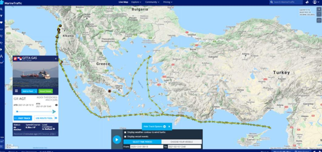 ifmat - The Art of Sanctions-Busting - How Three LPG tankers set sail for Syria