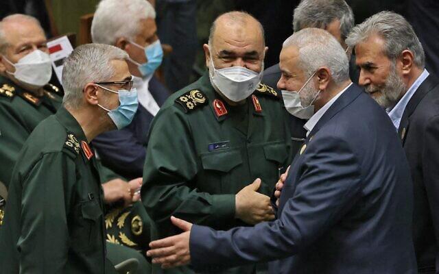 ifmat - Hamas leader and Iranian commanders meet at Raisi swearing-in1
