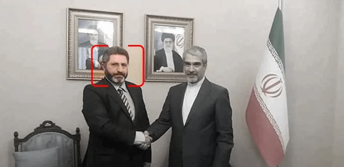 ifmat - The MP pictured with Javad Turkabadi, who served as Iran's ambassador to Syria from 2017 until May 2021