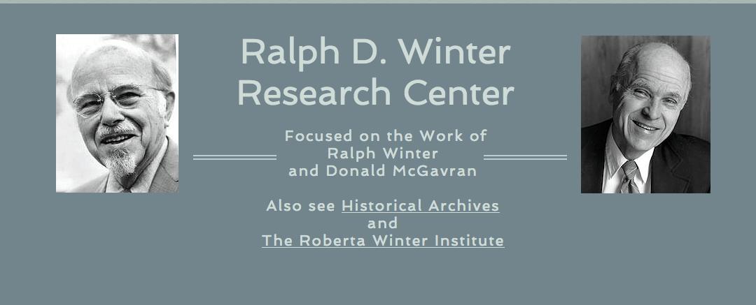 Archivos Históricos de los Escritos del Dr. Ralph D. Winter